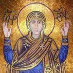 Мозаики Богоматери  Оранты и Христа Вседержителя